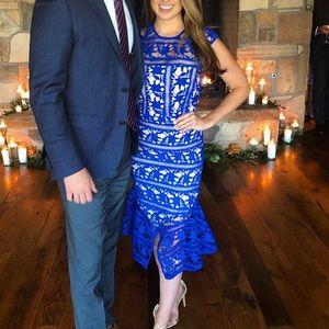 Cooper St Nordstrom Cobalt Blue Lace Dress